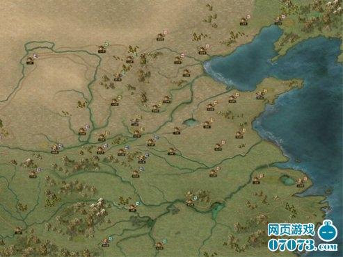 游戏中的地图恢宏大气,全景呈现春秋战国时期各地风貌,真实的历史