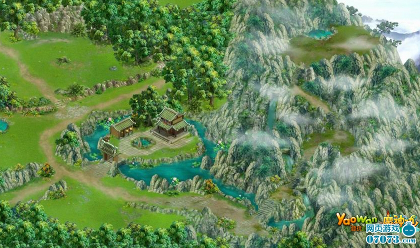 q版仙侠城市地图