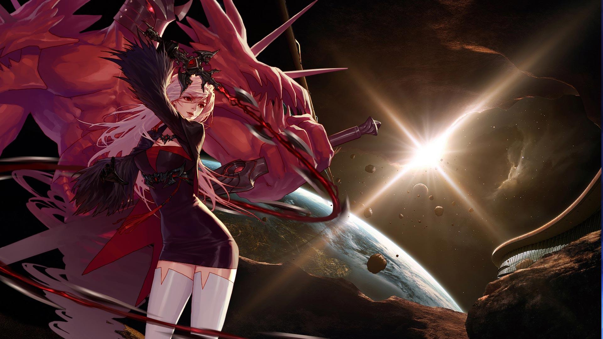 DNF玩家自制女鬼剑士霸气性感超清壁纸下载